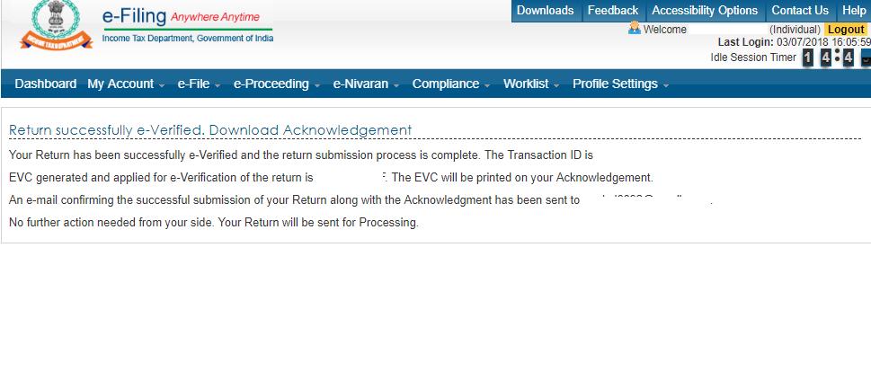 ITR-V E-Verification Code (EVC) – myITreturn Help Center